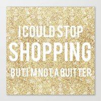 shopping Canvas Prints featuring Shopping by LuxuryLivingNYC