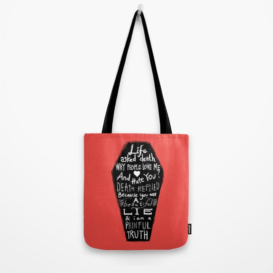 Life asked death... Tote Bag