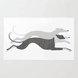Flying Whippets Rug