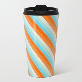 Goldfish Diagonal Striped Pattern Travel Mug