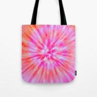 tie dye Tote Bags featuring TIE DYE by Nika