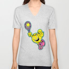 Female Comic Character Smashing Ball Unisex V-Neck