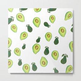 Fun fruit avocado print, kitchen decor, fruit aesthetics Metal Print