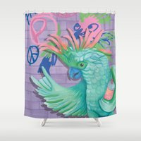 coco Shower Curtains featuring Coco by Sarah Underwood Illustration