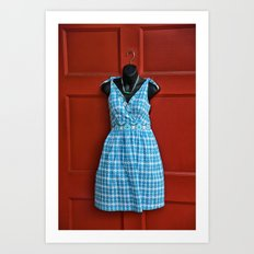 Fashionable Door Art Print