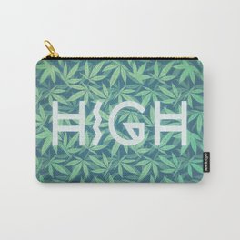 HIGH TYPO! Cannabis / Hemp / 420 / Marijuana  - Pattern Carry-All Pouch