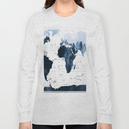 ALLOVER THE WORLD-Woods fog map Long Sleeve T-shirt