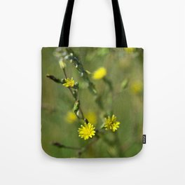 Golden flowers by the lake 2 Tote Bag