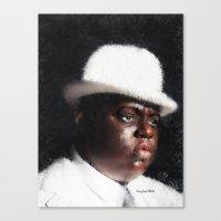 biggie smalls Canvas Prints featuring Biggie Smalls by André Joseph Martin