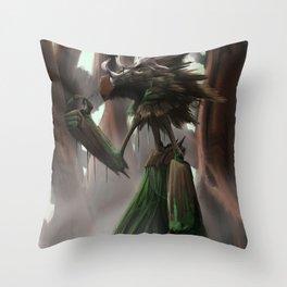 Swamp Giant Throw Pillow