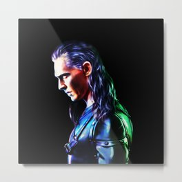Loki - A Study In Perfection III Version One Metal Print