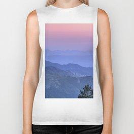 """Mountain dreams II"". At sunset. Biker Tank"