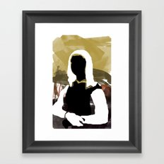 Mona Framed Art Print
