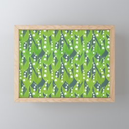 Lily of the Valley Pattern Framed Mini Art Print