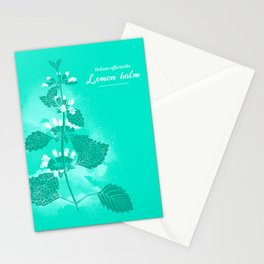 Illustration of the plant Lemon Balm (Melissa officinalis) Stationery Cards