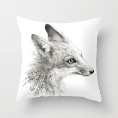 A Young Fox Throw Pillow