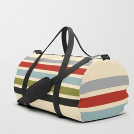 Abstract Minimal Retro Stripes 70s Style - Shigenaga Duffle Bag