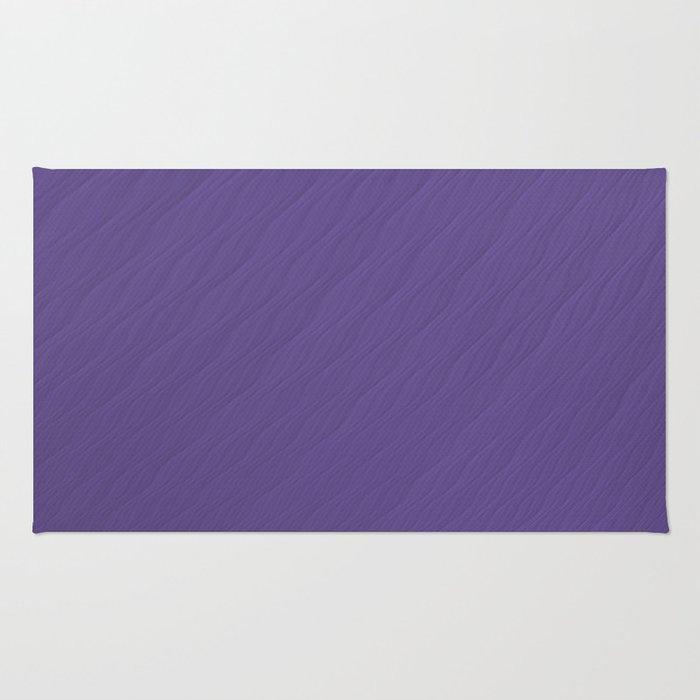 Ultra Violet Wave Pattern Trendy Color 2018 Rug