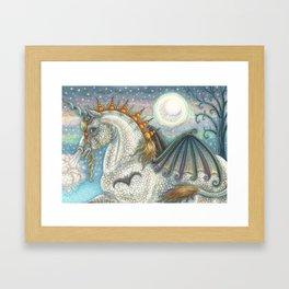 SPELLBOUND Gothic Halloween Unicorn Framed Art Print