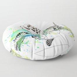 Sea Turtle I Floor Pillow