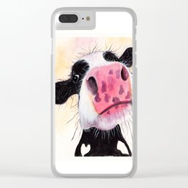 Nosey Cow ' BETTY BLUEBERRY ' by Shirley MacArthur Clear iPhone Case