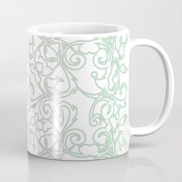 Cotton Candy Pastels on Botanical Art Nouveau Fretwork Coffee Mug