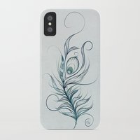 peacock feather iPhone & iPod Cases featuring Peacock Feather by LouJah