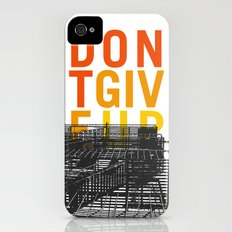 don't give up iPhone (4, 4s) Slim Case