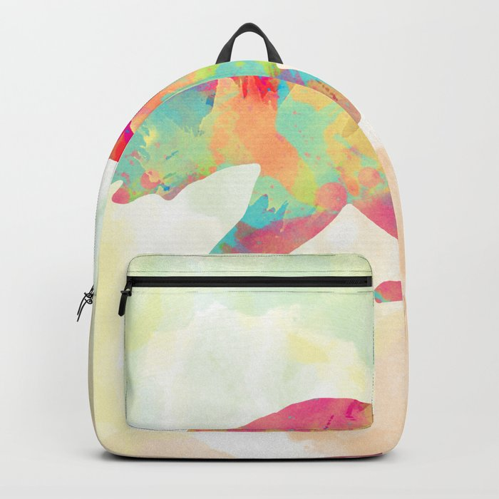 Abstract Bear Backpack