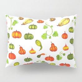Autumn Pumpkin and Gourd Pattern Pillow Sham
