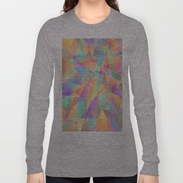 The Geometric Glass Shatter Long Sleeve T-shirt