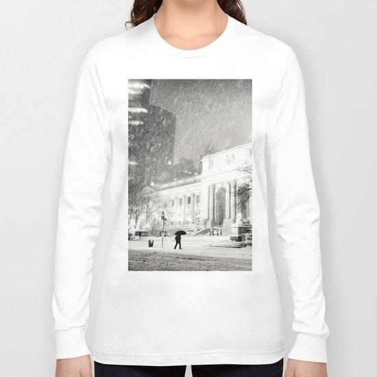 New York City Snow - 5th Avenue Long Sleeve T-shirt