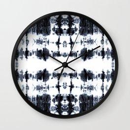 Boho BW Stitch Shibori Wall Clock