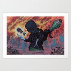 Vic The Butcher Art Print