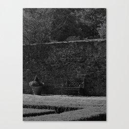 Walled Garden bw Canvas Print