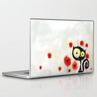 poppies Laptop & iPad Skins featuring Poppies  by Katja Main