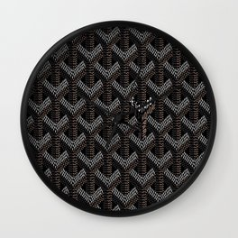 Goyard Black Wall Clock