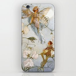 """Fairies Mid Sweet Peas"" by Margaret Tarrant iPhone Skin"