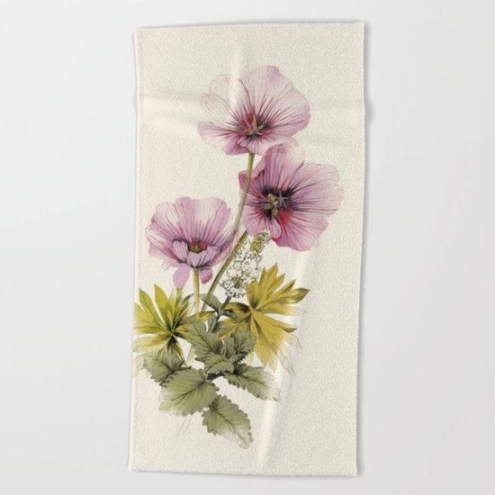 Geranium & Gardenmint Beach Towel