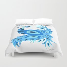 Peacock – Ice Blue Palette Duvet Cover