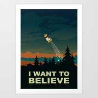 i want to believe Art Prints featuring I want to believe by mangulica