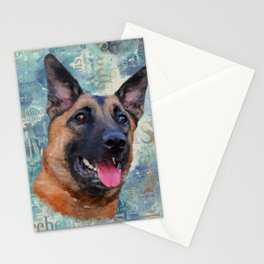 Malinois  - Belgian shepherd - Mechelaar Stationery Cards