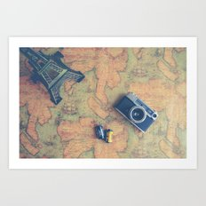 World Vintage Art Print