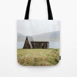 House in front of the lake Tote Bag