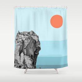 Under the Grecian sun Shower Curtain