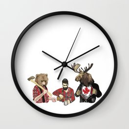 Oh, Hey There Canada Wall Clock