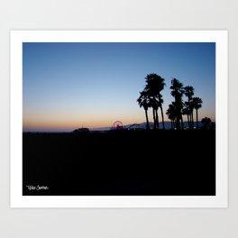 Santa Monica Pier California Art Print
