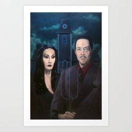 Addams Family Gothic Art Print