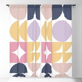 Mid-Century Geometric Pattern Blackout Curtain