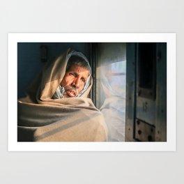 A little rest. Varanasi, India. Art Print